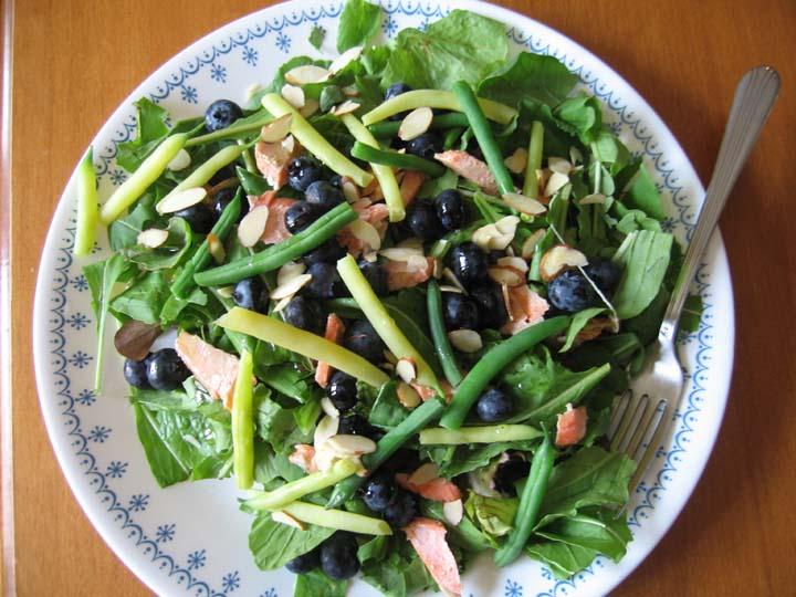 Arugula Salmon Blueberry Salad | Reimann Family Farm
